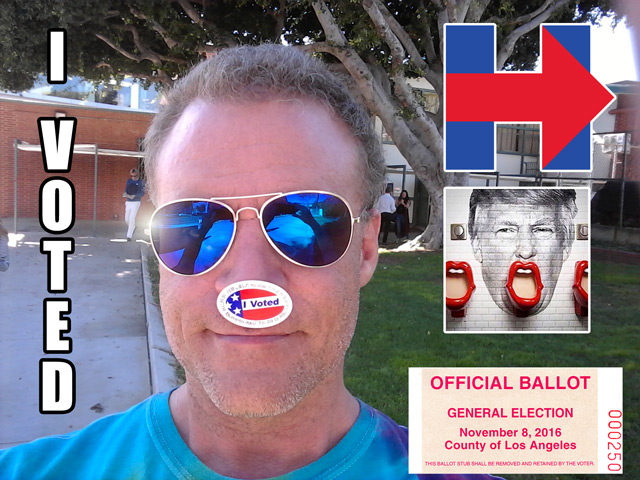 angry gay pope voted for hillary in west hollywood california