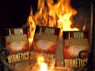dianetics  burning on open fire