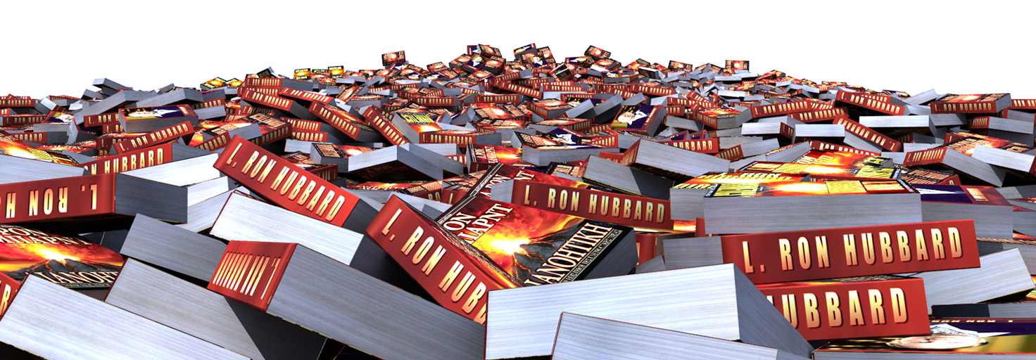 pile of dianetics books