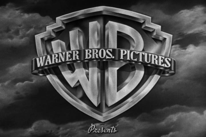 warner brothers movie logo black white