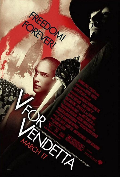 """v for vendetta"" poster"